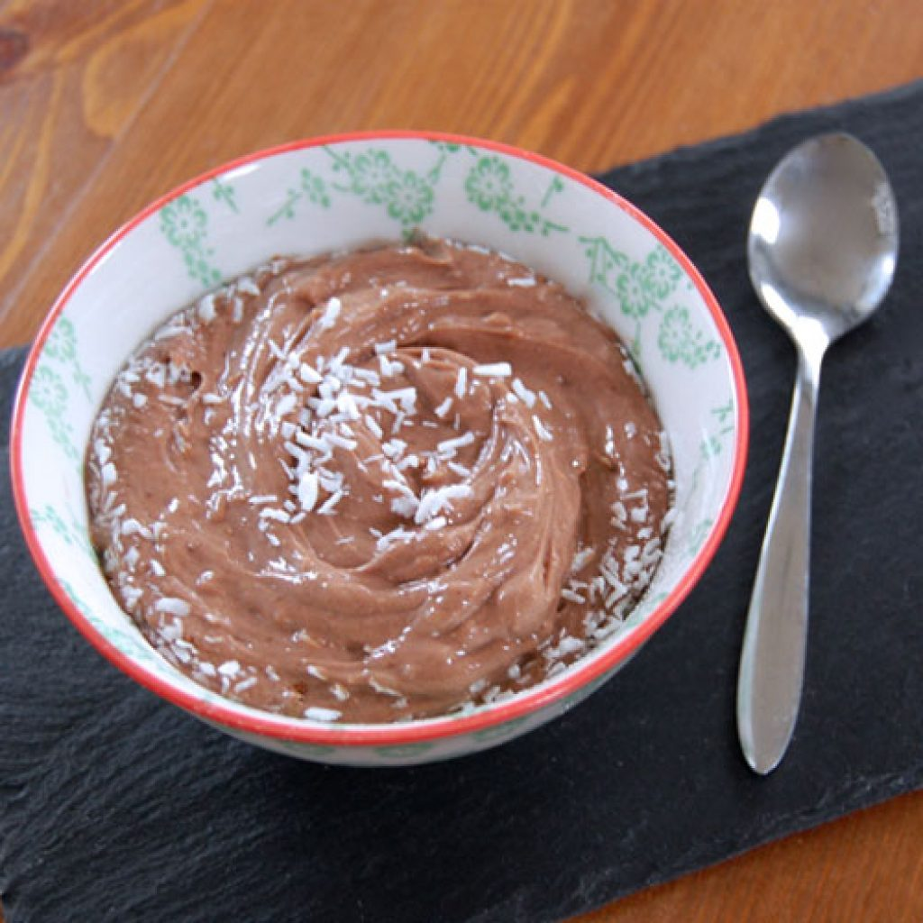 warm chocolate protein bowl