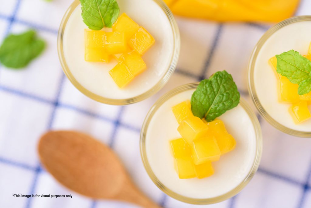 tropical coconut mousse